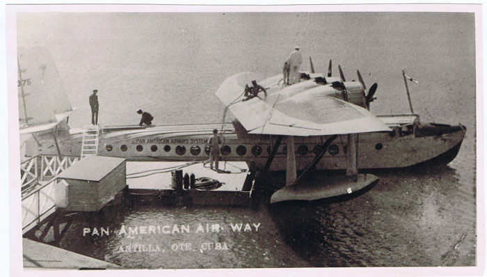 PAN AMERICAN AIR WAY Photograph of flying boat at Cuba.