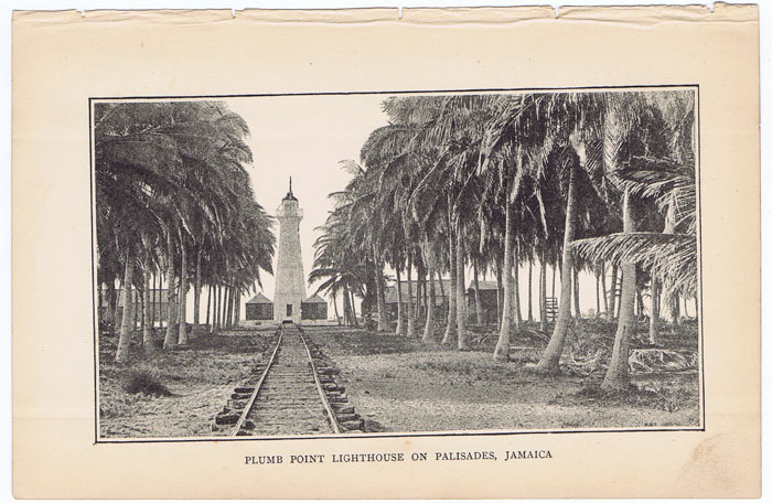 ANON Plumb Point Lighthouse on Palisades, Jamaica.