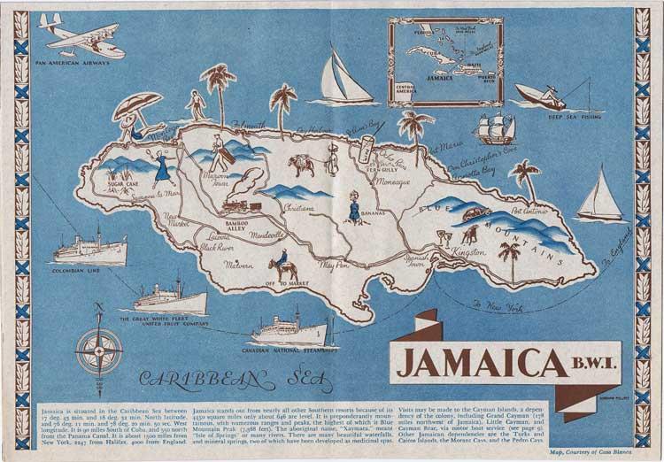 Jamaica - Maps, Prints, Photographs Ephemera - Pennymead.com