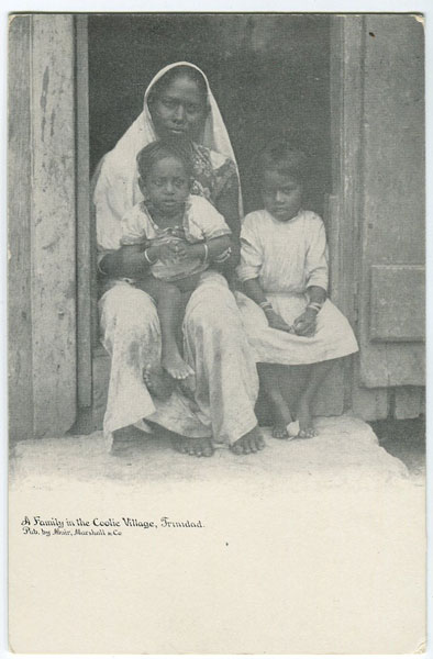 MUIR MARSHALL & CO A family in the Coolie Village, Trinidad.