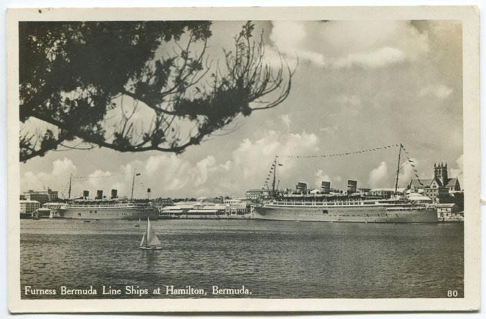 WALTER RUTHERFORD AND A.J. GORHAM Furness Bermuda Line ships at Hamilton, Bermuda. - No 80.