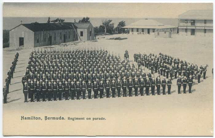 J.H. BRADLEY & CO Hamilton, Bermuda. Regiment on parade. - No 54.