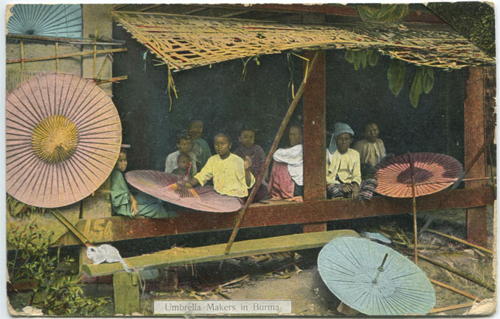 D.A. AHUJA Umbrella makers in Burma.