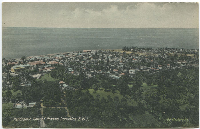 MASTERVILLE Panoramic View of Roseau, Dominica, B.W.I.