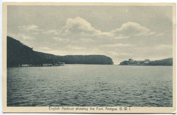ANJO F.R. English Harbour showing the fort, Antigua, B.W.I.