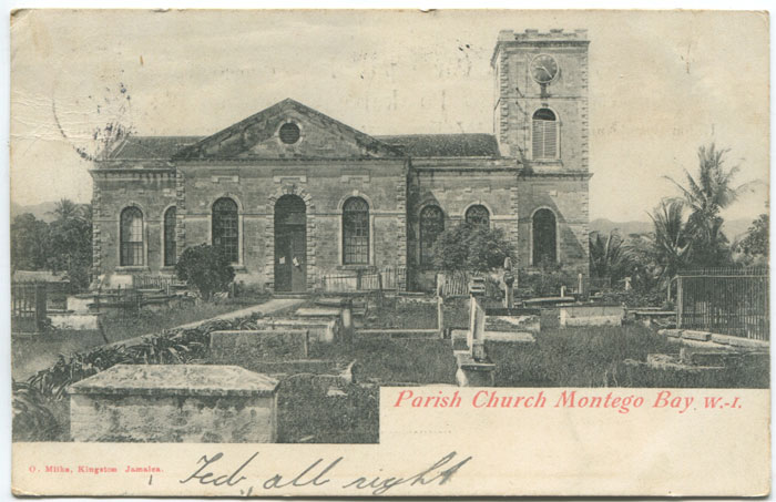 O. MILKE Parish Church Montego Bay W.I.