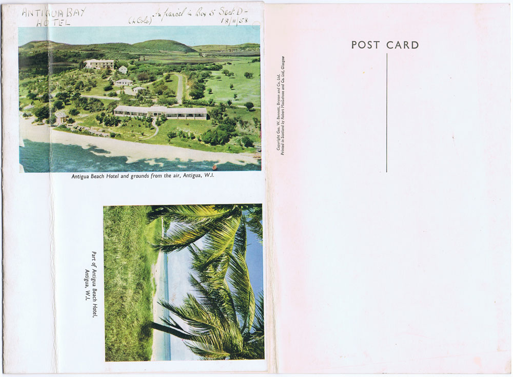 GEO. W. BENNETT, BRYSON AND CO LTD. Views of Antigua.