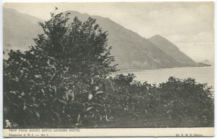 K.M.B. SIMON View from Morne looking South Dominica B.W.I. - No 7