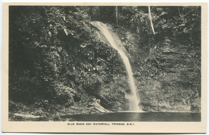 ANON Blue Basin and Waterfall, Trinidad, B.W.I.