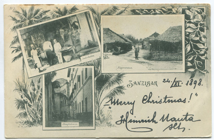 ANON Zanzibar early vignette postcard.