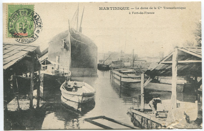 LEBOULLANGER Martinique. La darse de la Cie Transatlantique a Fort de France.