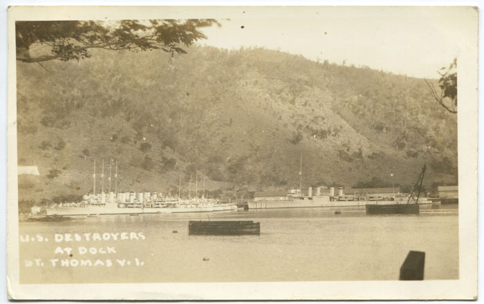ANON U.S. Destroyers at dock, St Thomas V.I.