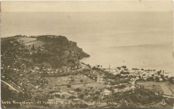RAPHAEL TUCK & SONS Kingstown, St Vincent B.W.I. from Dorsetshire Hill.