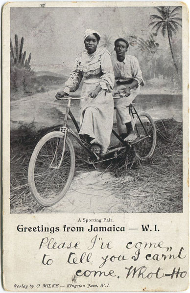 O. MILKE A Sporting Pair, Greetings from Jamaica W.I.