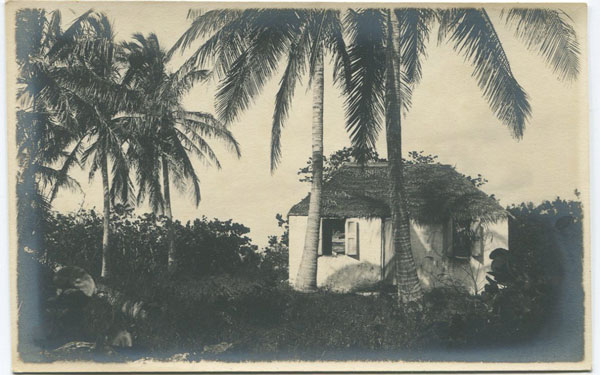 ANON Thatched cottage in the Bahamas.