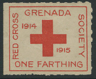 1915 Red Cross �d charity label, unused.