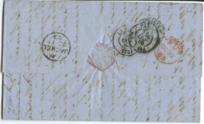 1863 (11 Oct) EL from Haiti to France