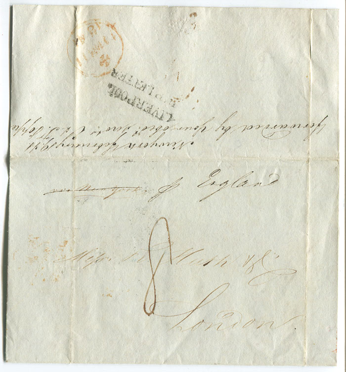1841 cover from Cuba to England