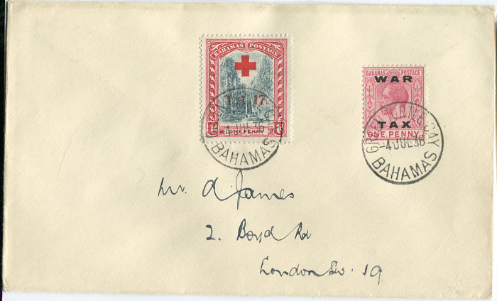 1936 cover from Bahamas to London