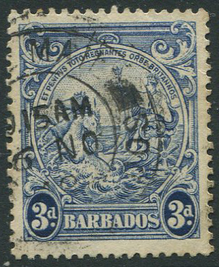 1938-47 perf 13� x 13, 3d blue with vertical line over horse