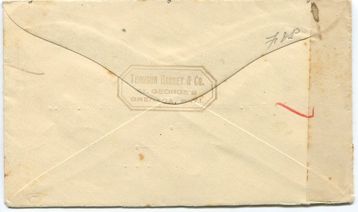 1941 (26 July) Grenada censored cover to U.S.A.