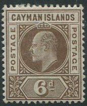 1902-3 Cayman Is. 6d (SG6), m.m.