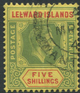 1938-51 Leewards 5/- with broken