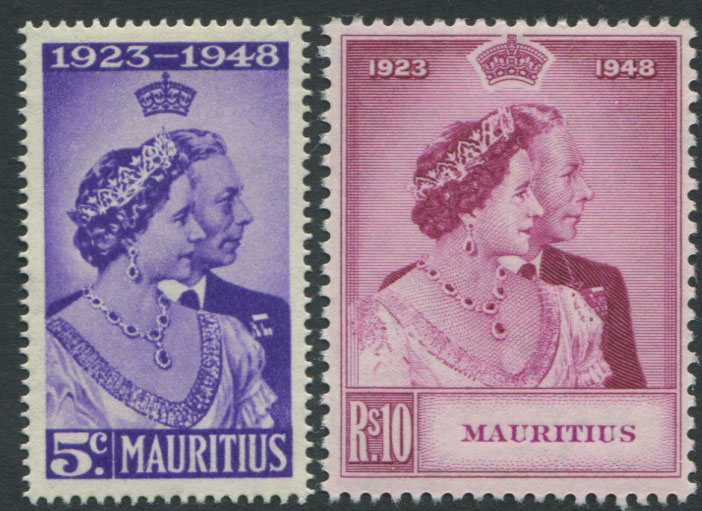 1948 Mauritius Royal Silver Wedding pair, l.m.m.