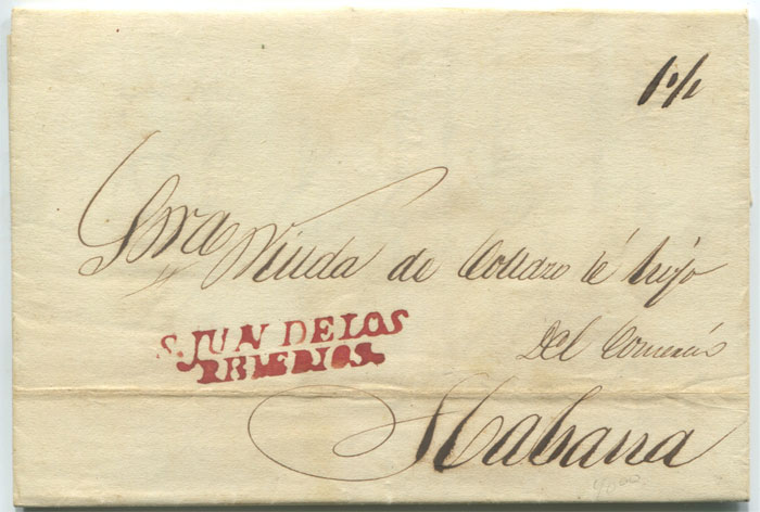 1837 EL from San Juan de Los Remedios to Havana