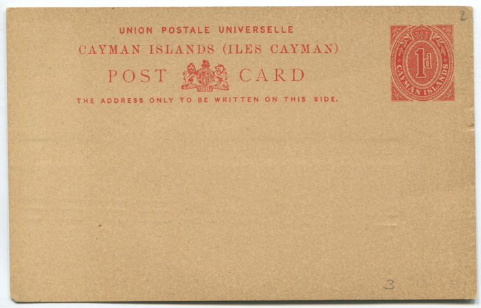 1909 Cayman Islands 1d postal stationery card