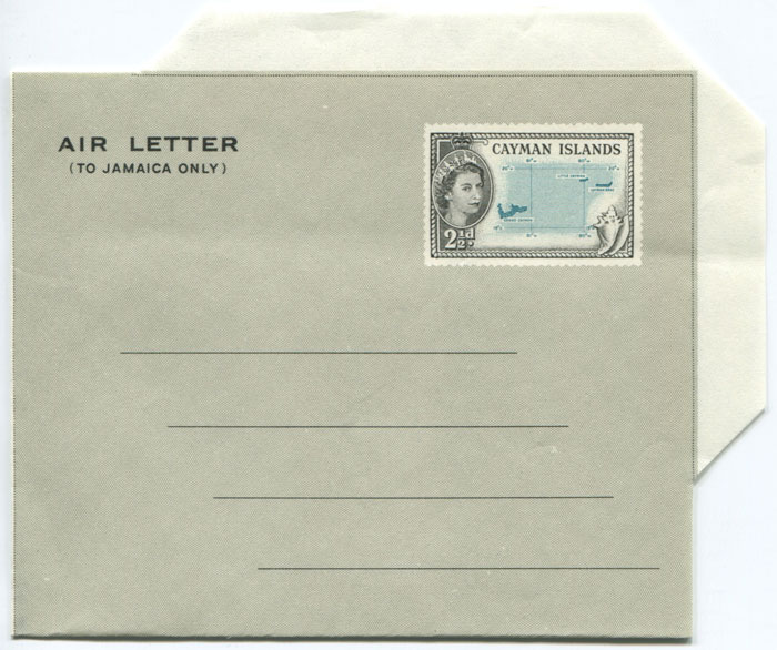 1958 Cayman Islands 2�d postal stationery airletter