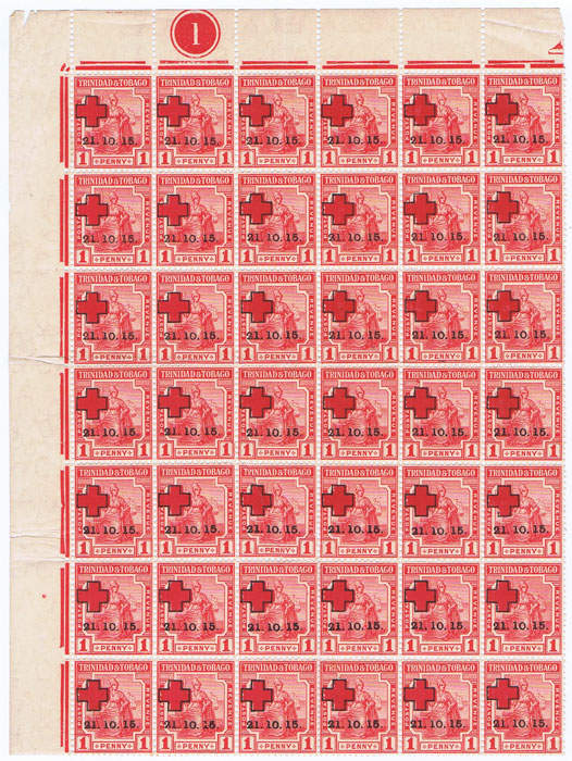 1915 Trinidad & Tobago 1d Red Cross (SG174)
