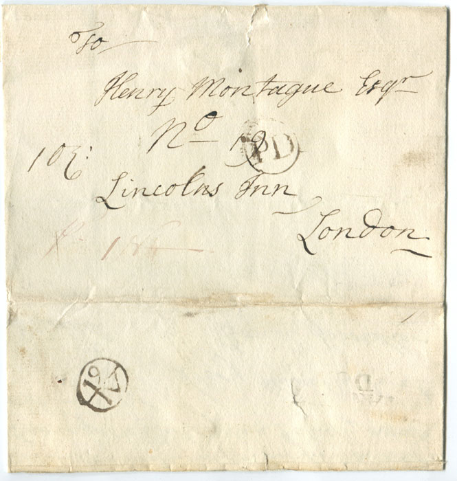 1751 (18 Jun) cover from Great Coxwell to London with