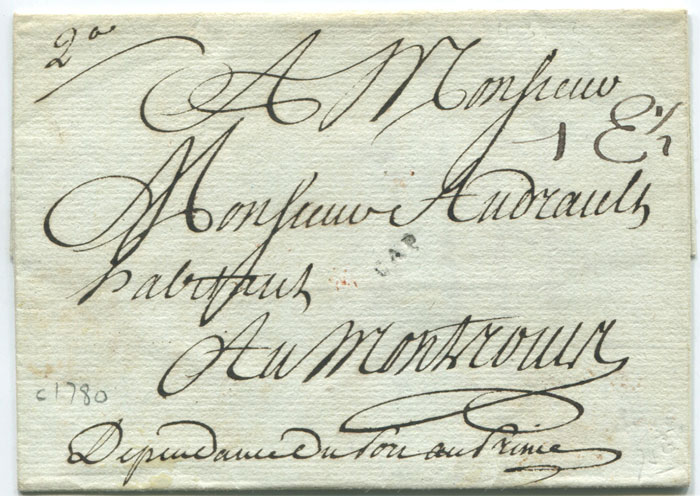 1781 (circa) Haiti cover with fine small