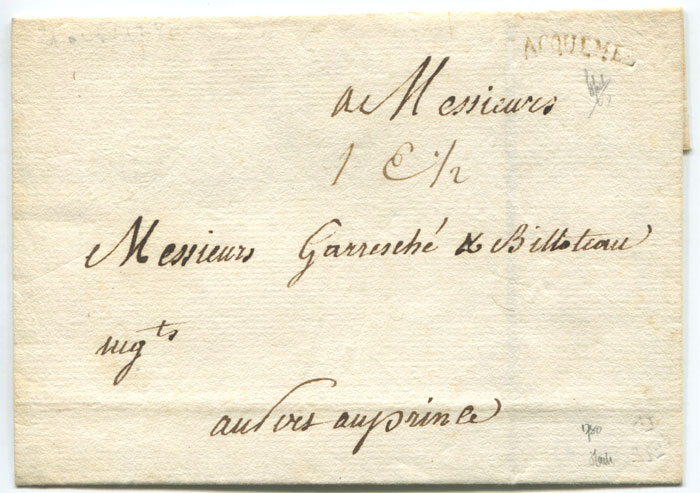 1780 Haiti cover with fine