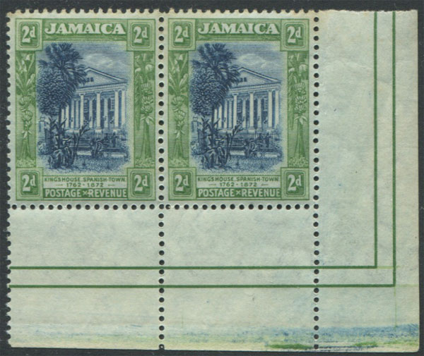 1919-21 Jamaica Mult CA, �d, 1d, and 2d in marginal pairs,
