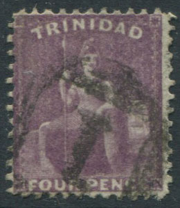 1862-3 Trinidad 4d deep purple (SG61),