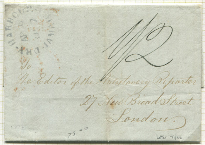 1847 (5 Apr) DRY HARBOUR JAMAICA cds (P2b) on EL to