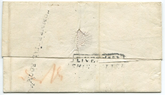 1827 (17 Feb) cover from Jamaica to England with good s/l