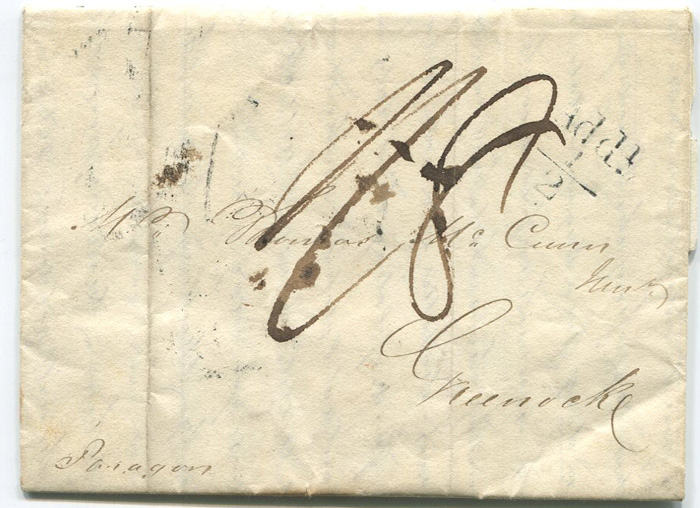 1826 (25 Aug) EL from Kingston, Jamaica to Scotland with COMMERCIAL ROOMS h/s (CR6)