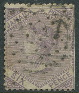 1860-3 Jamaica Pines 6d with inverted wmk (SG5w)