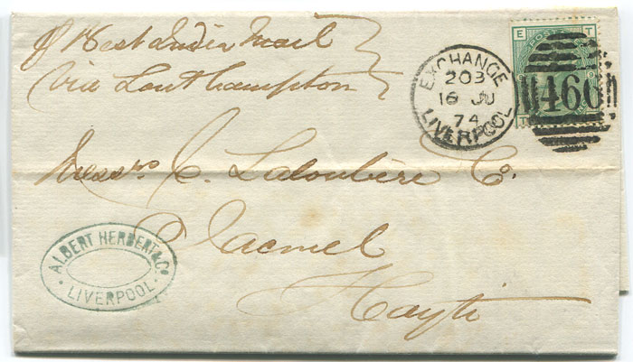 1874 EL from Liverpool to Haiti