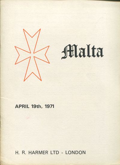1971 (19 Apr) Derek Brown collection of Malta.
