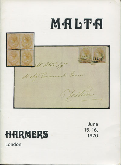 1970 (15-16 Jun) H.A. Cann collection of Malta.