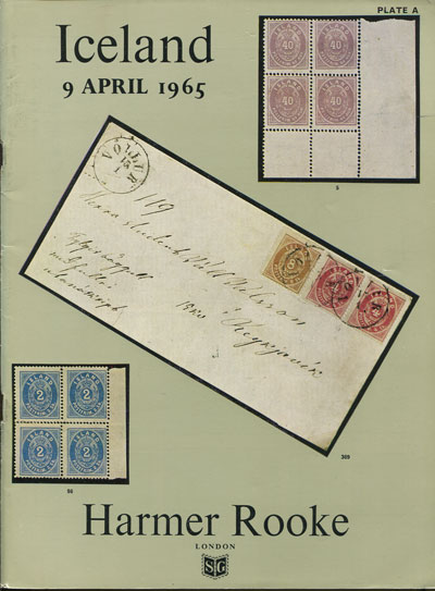 1965 (9 Apr) Catalogue of a Specialised collection of Iceland.