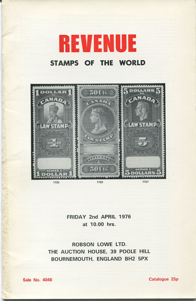 1976 (2 Apr) Revenue stamps of the World.
