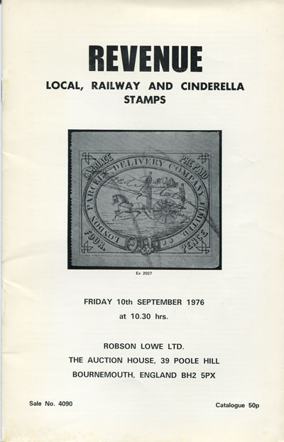 1976 (10 Sep) Revenue, local, railway and cinderella stamps.