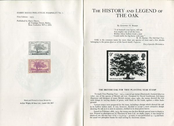 BISHOP G.H. The History and Legend of the Oak.