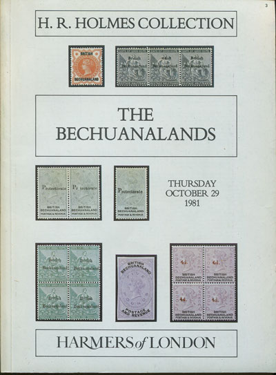 1981 (29 Oct) H.R. Holmes collection of The Bechuanalands.