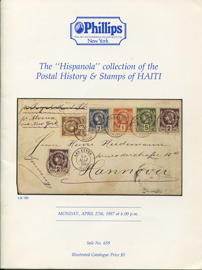 1987 (27 April) The Hispanola collection of the postal history and stamps of Haiti